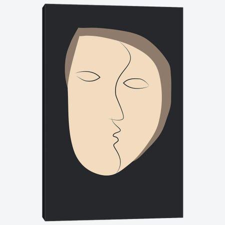 Face It I Canvas Print #FBK253} by Design Fabrikken Canvas Wall Art