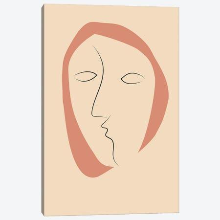 Face It II Canvas Print #FBK254} by Design Fabrikken Canvas Art Print