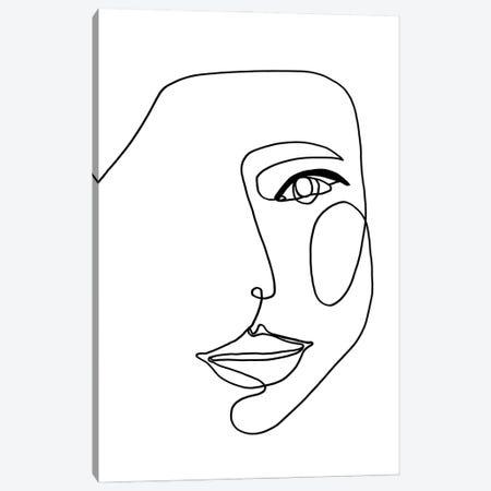 Face Line I Canvas Print #FBK256} by Design Fabrikken Canvas Print
