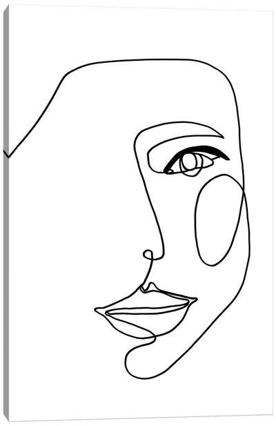 Face Line I Canvas Art Print