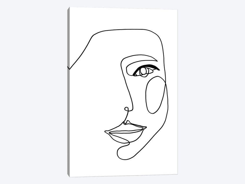 Face Line I by Design Fabrikken 1-piece Canvas Art Print