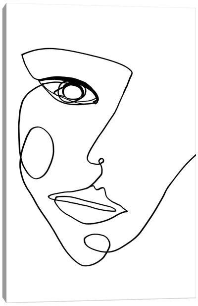 Face Line II Canvas Art Print