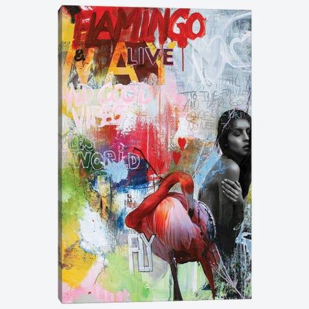 Flamingo Canvas Print #FBK265} by Design Fabrikken Canvas Artwork