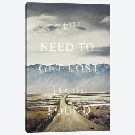 Get Lost Canvas Print #FBK283} by Design Fabrikken Canvas Art Print