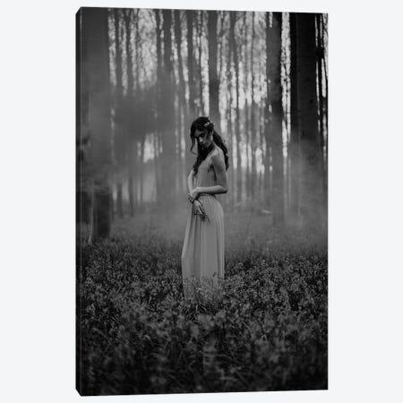 Girl in the Woods Canvas Print #FBK284} by Design Fabrikken Canvas Art