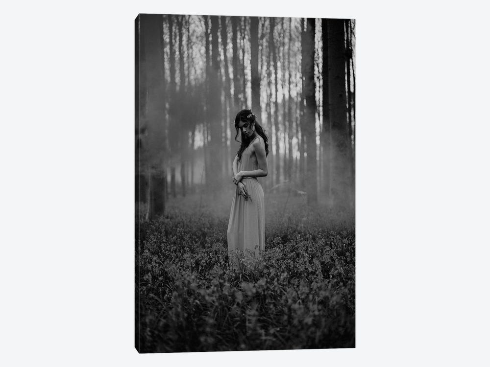 Girl in the Woods by Design Fabrikken 1-piece Canvas Art