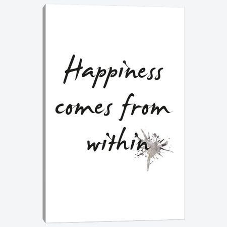 Happiness Canvas Print #FBK293} by Design Fabrikken Canvas Art