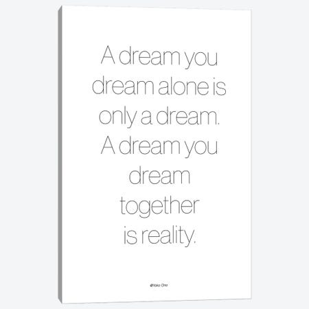 A Dream Canvas Print #FBK30} by Design Fabrikken Canvas Wall Art