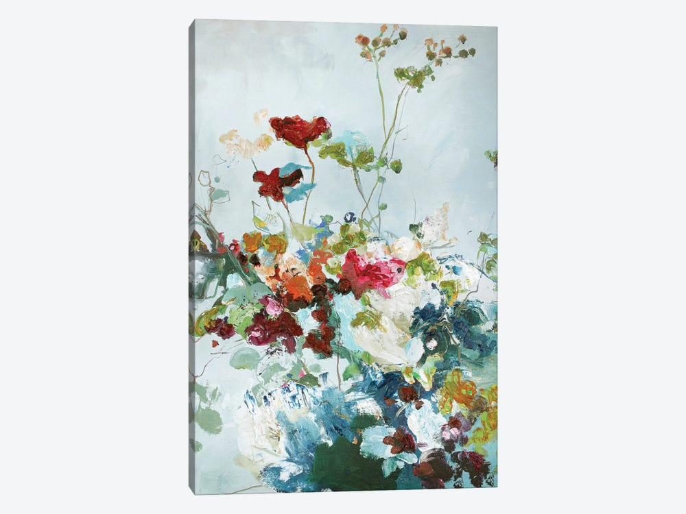 Abstract Floral I 1-piece Canvas Art Print
