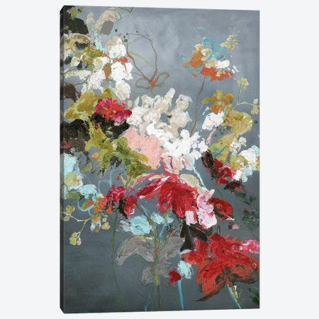 Abstract Floral II Canvas Print #FBK32} by Design Fabrikken Canvas Artwork