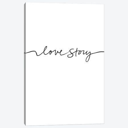 Love Story Canvas Print #FBK332} by Design Fabrikken Art Print