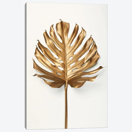 Monstrea Gold Leaf Canvas Print #FBK342} by Design Fabrikken Canvas Artwork