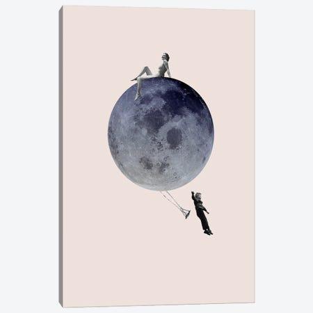 Moon Jump Canvas Print #FBK343} by Design Fabrikken Canvas Art