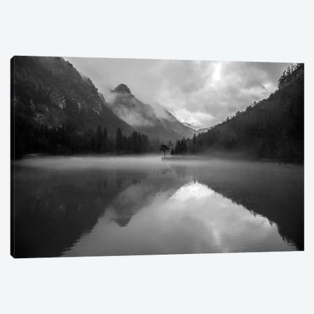 Mountain Lake Canvas Print #FBK345} by Design Fabrikken Canvas Print
