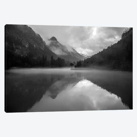 Mountain Lake Canvas Print #FBK345} by Design Fabrikken Canvas Print