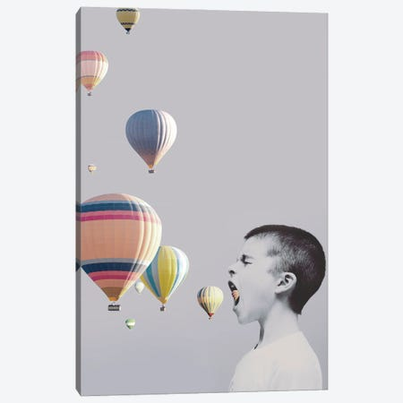 My Big Mouth Canvas Print #FBK346} by Design Fabrikken Canvas Print