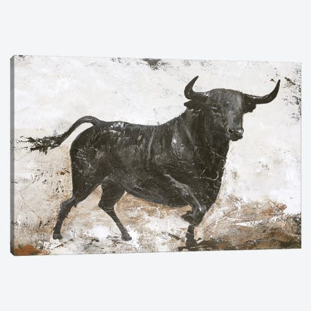 Black Bull Canvas Print #FBK35} by Design Fabrikken Canvas Art Print