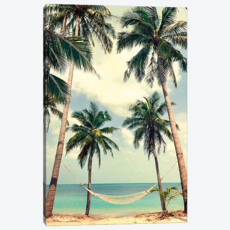 Palm Sky III Canvas Print #FBK363} by Design Fabrikken Canvas Artwork