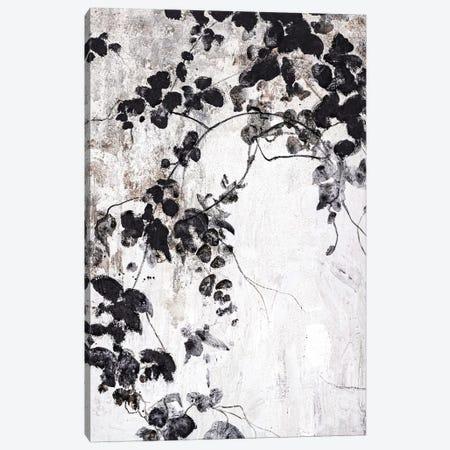 Black Leaves Canvas Print #FBK36} by Design Fabrikken Canvas Art Print