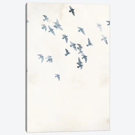 Pigeons Sky Canvas Print #FBK372} by Design Fabrikken Canvas Print