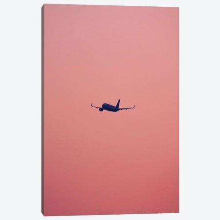 Pink Flight Canvas Print #FBK376} by Design Fabrikken Canvas Artwork