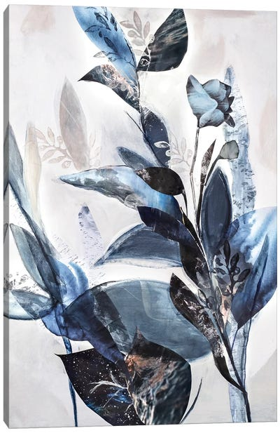 Blue Leaves Canvas Art Print