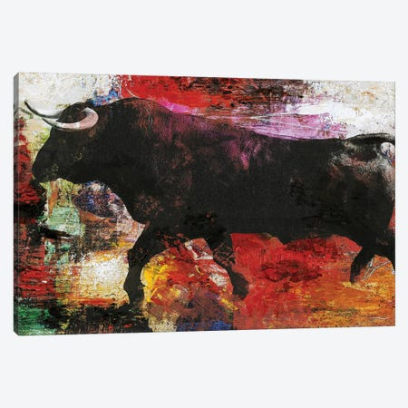 Bull Canvas Print #FBK39} by Design Fabrikken Canvas Art