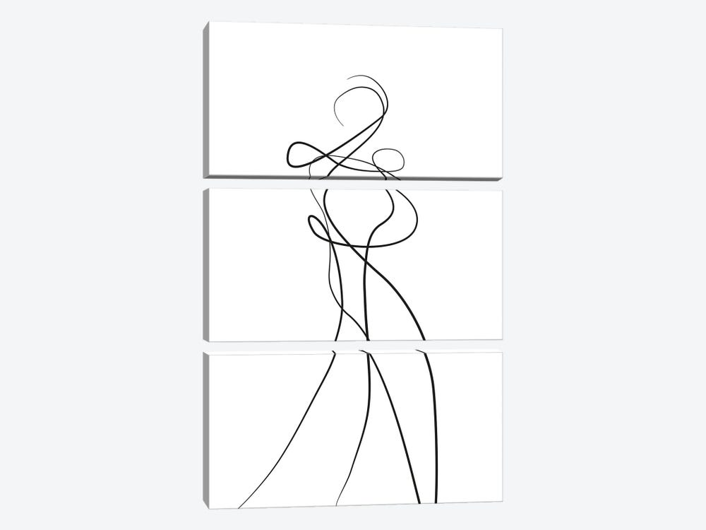 Shape of You II by Design Fabrikken 3-piece Canvas Art Print