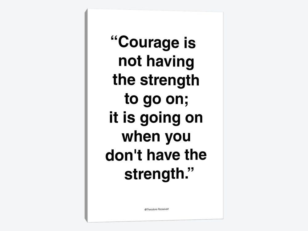 Courage by Design Fabrikken 1-piece Canvas Print