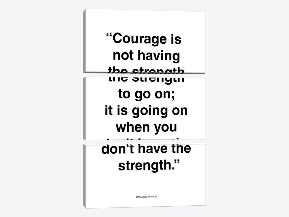 Courage by Design Fabrikken 3-piece Art Print