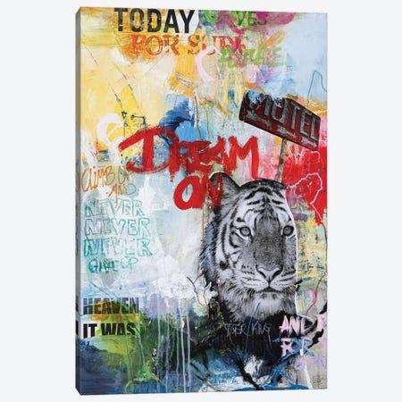 Tiger King Canvas Print #FBK450} by Design Fabrikken Canvas Art