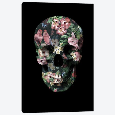 Tropic Skull Canvas Print #FBK457} by Design Fabrikken Canvas Print