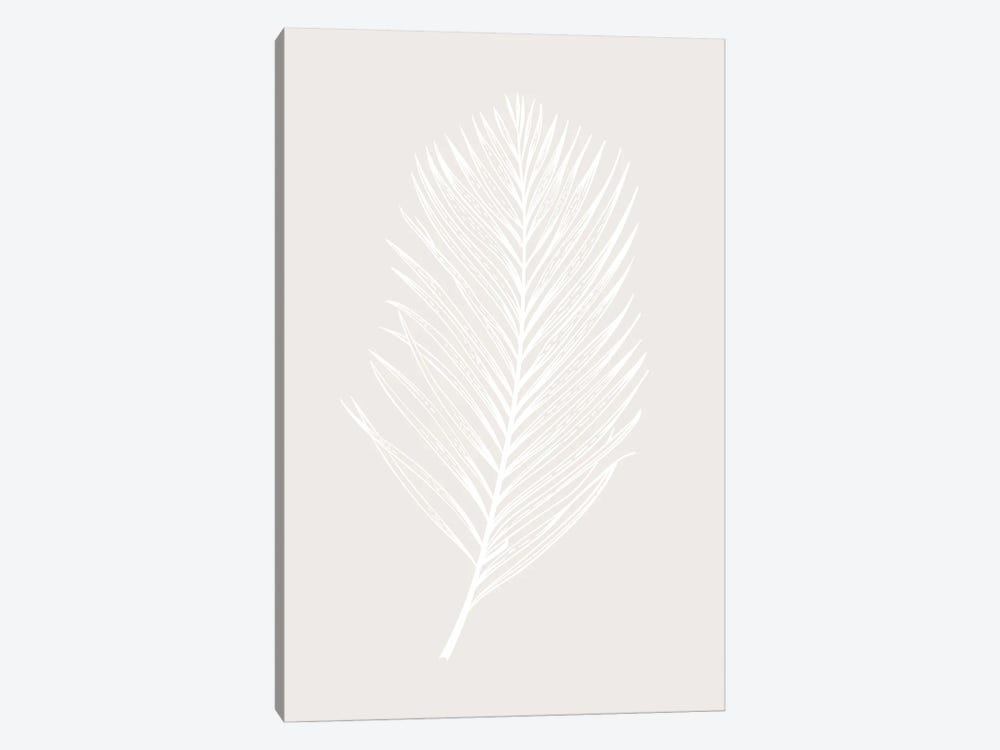 White Leaf by Design Fabrikken 1-piece Canvas Wall Art