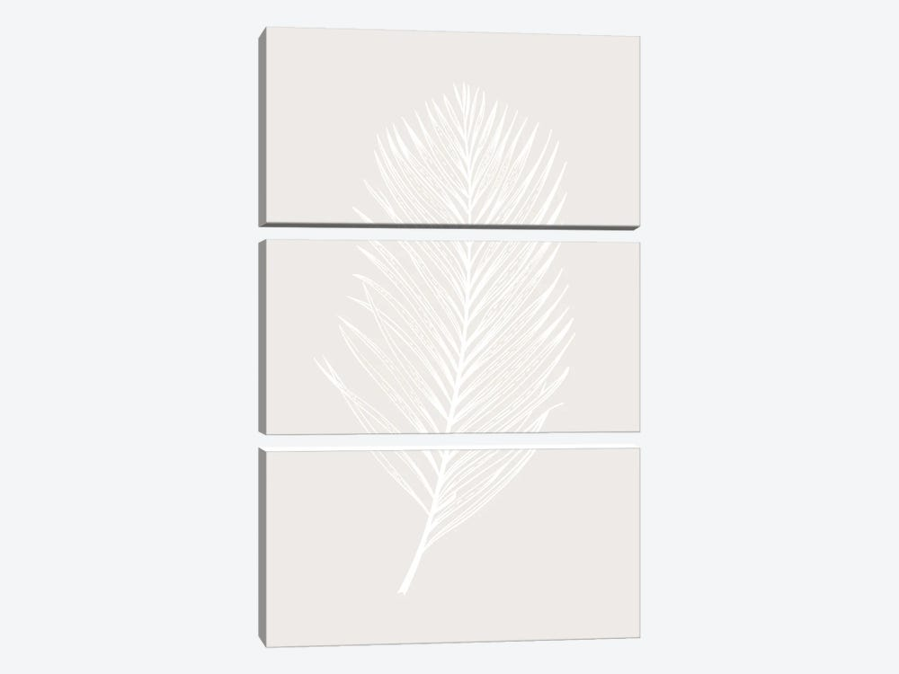 White Leaf by Design Fabrikken 3-piece Canvas Art