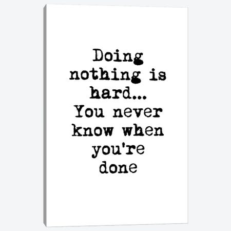 Doing Nothing Canvas Print #FBK47} by Design Fabrikken Canvas Art