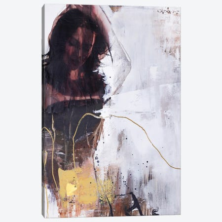 Yellow Era I Canvas Print #FBK482} by Design Fabrikken Art Print