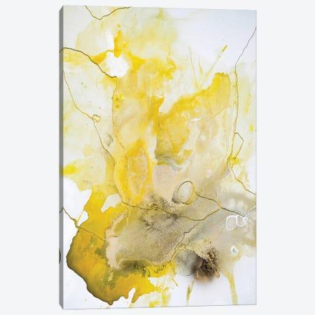 Yellow Line Canvas Print #FBK484} by Design Fabrikken Canvas Artwork