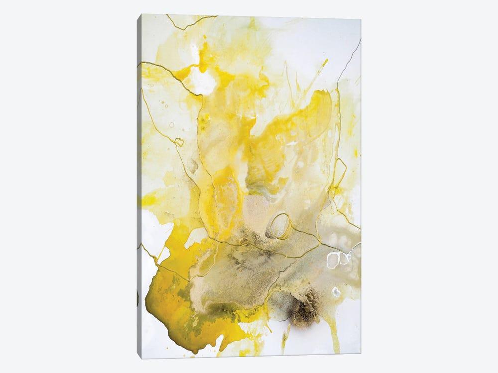 Yellow Line by Design Fabrikken 1-piece Canvas Art