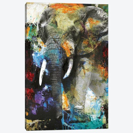 Elephant Canvas Print #FBK48} by Design Fabrikken Canvas Art Print