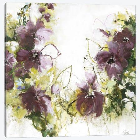 Flower Blush I Canvas Print #FBK52} by Design Fabrikken Canvas Wall Art