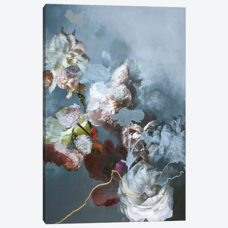 Haute Couture Blue 3-Piece Canvas #FBK67} by Design Fabrikken Canvas Wall Art