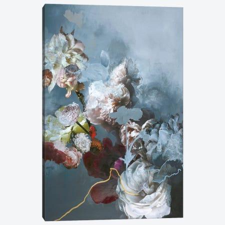 Haute Couture Blue Canvas Print #FBK67} by Design Fabrikken Canvas Wall Art