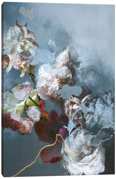 Haute Couture Blue Canvas Art Print