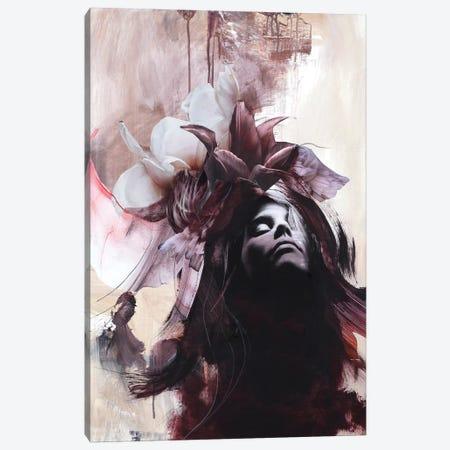 Imperfection Red Canvas Print #FBK72} by Design Fabrikken Canvas Art