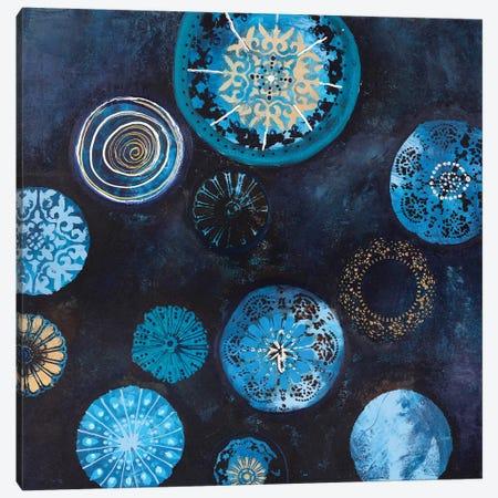 Indigo Canvas Print #FBK73} by Design Fabrikken Canvas Artwork