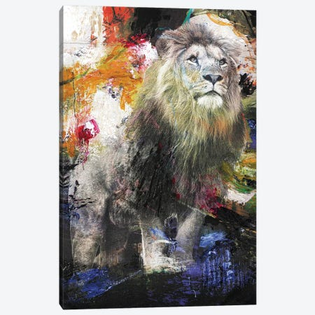 Lion Canvas Print #FBK77} by Design Fabrikken Canvas Art Print