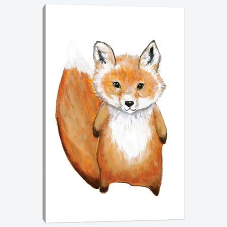 Little Fox Canvas Print #FBK79} by Design Fabrikken Canvas Wall Art
