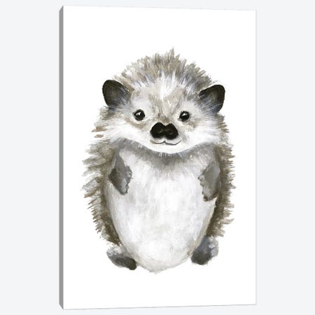 Little Hedgehog Canvas Print #FBK80} by Design Fabrikken Art Print