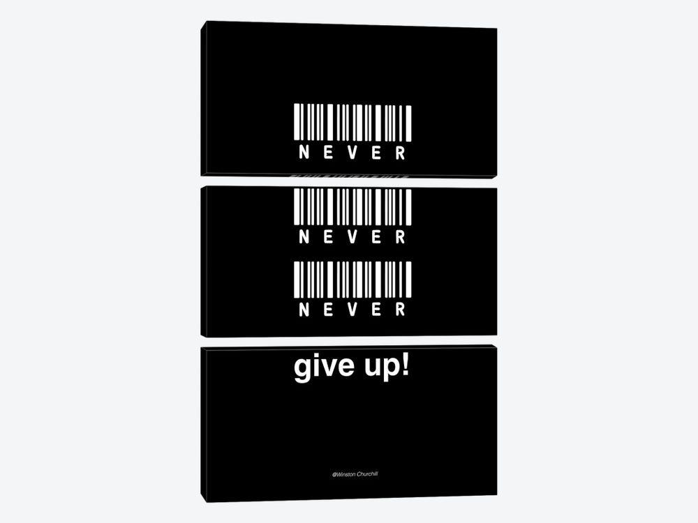 Never Give Up by Design Fabrikken 3-piece Canvas Artwork