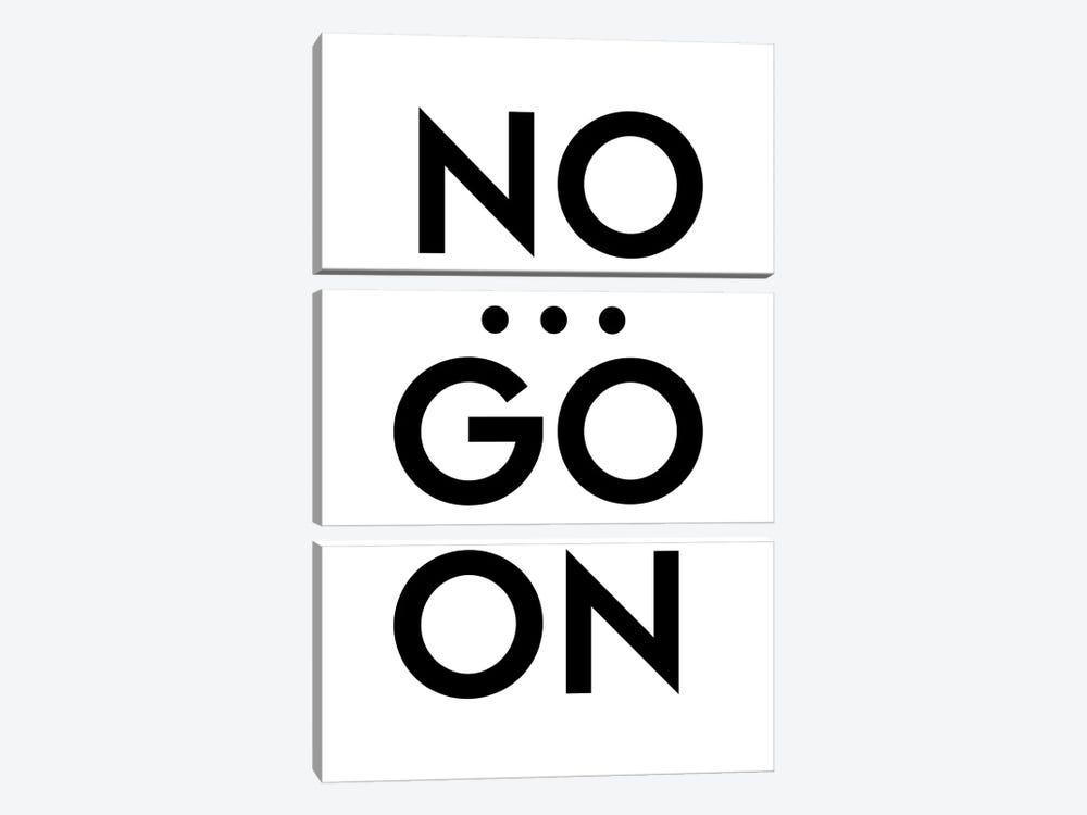 No... Go On by Design Fabrikken 3-piece Art Print